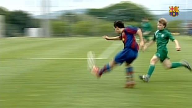 Sergi Roberto's goals in La Masia