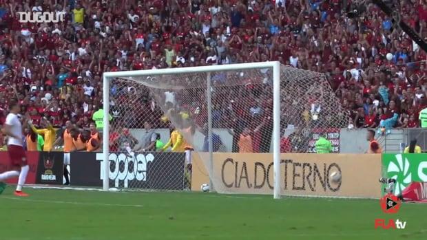 Gabriel Barbosa's goals against Fluminense