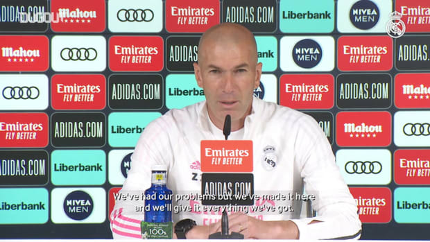 Zinedine Zidane: 'We're going to deliver our highest level to try and win LaLiga'