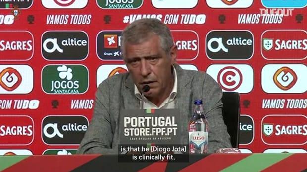 Fernando Santos on Diogo Jota's recovery ahead of Euro 2020