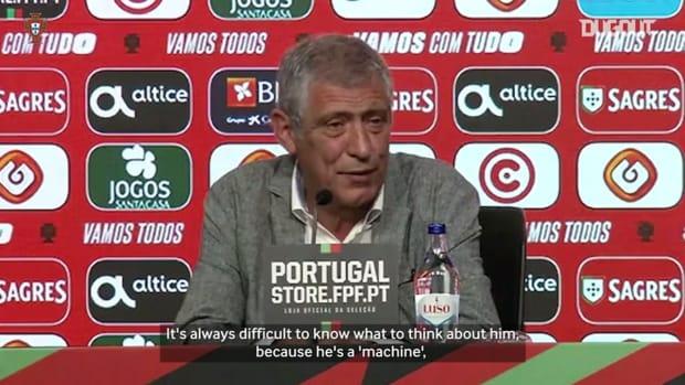 Fernando Santos discuss Ronaldo's future in the Portugal national team