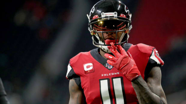 Julio Jones in a Falcons home game