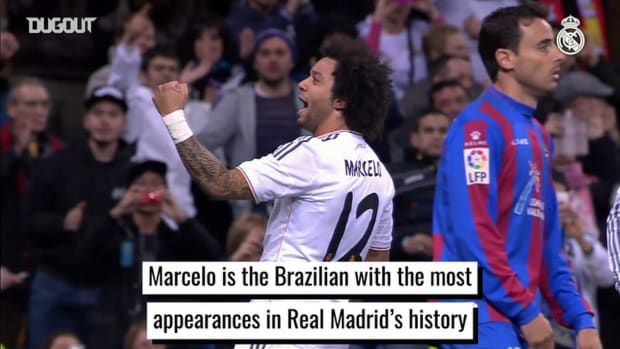 Marcelo is the Brazilian with the most appearances in Real Madrid's history