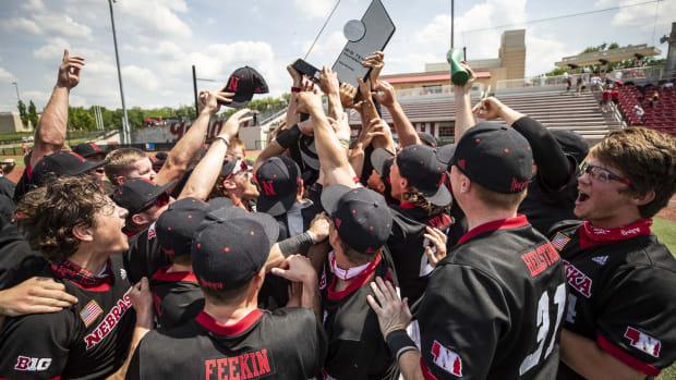 2021 Nebraska Baseball Big Ten title celebration