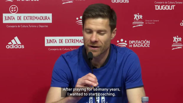 Xabi Alonso on his first managerial success