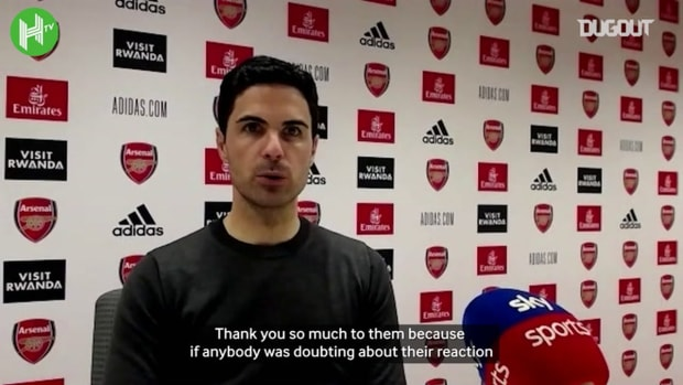 Mikel Arteta thanks fans for Arsenal support