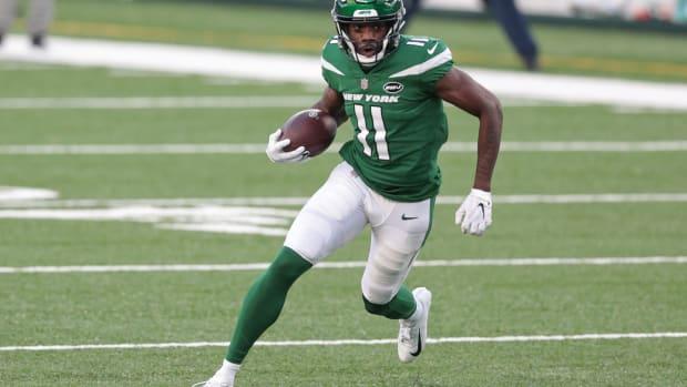 Jets wide receiver Denzel Mims