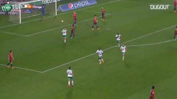 Gradel's perfect header vs Lille