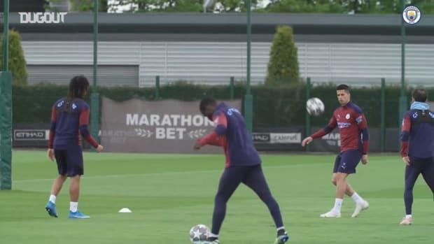 Man City stars prepare for Champions League final