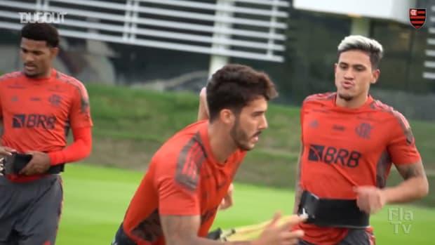 Flamengo's training session ahead of Vélez Sársfield clash