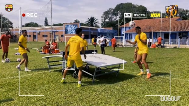 Barcelona SC's games in training before facing Santos