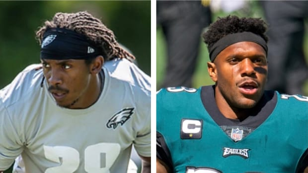 Anthony Harris (left) and Rodney McLeod are teamed together again on Eagles