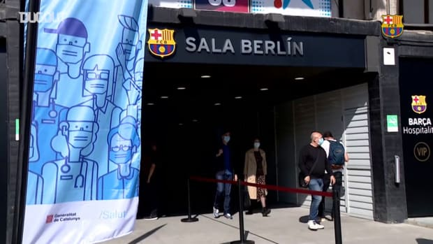 New vaccination point at Camp Nou