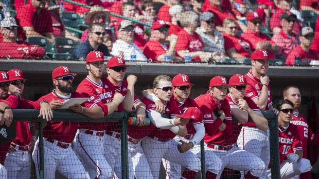 Nebraska baseball dugout 2021