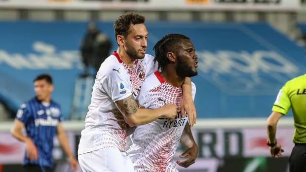 Hakan Calhanoglu and Franck Kessie Liverpool target