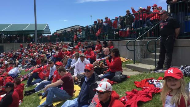 Saturday crowd, Nebraska vs Michigan baseball