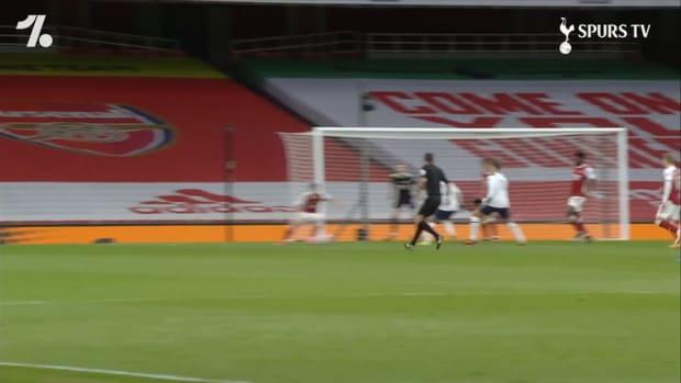 Erik Lamela's incredible rabona against Arsenal