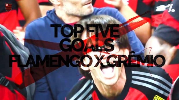 Flamengo's top five goals against Grêmio