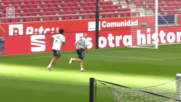 Spain prepare for friendly against Portugal