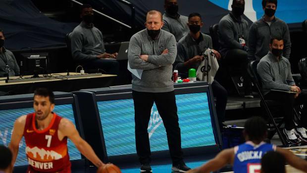 Tom Thibodeau with the Knicks.