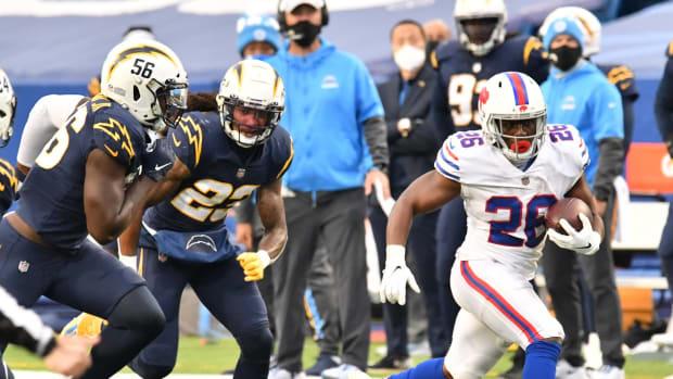 Devin Singletary (26) was the Bills' leading rusher last season.