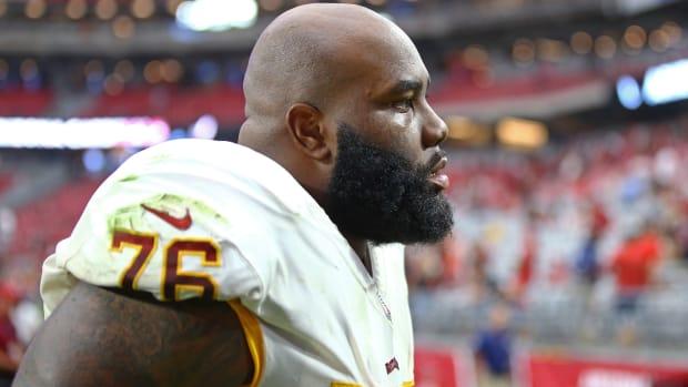 Washington Football Team offensive lineman Morgan Moses