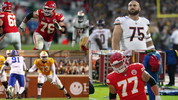 Laurent Duvernay-Tardif, Kyle Long, Trey Smith and Andrew Wylie