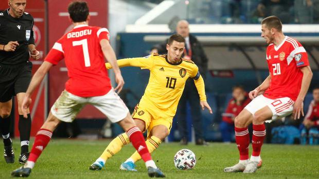 Eden Hazard against Russia