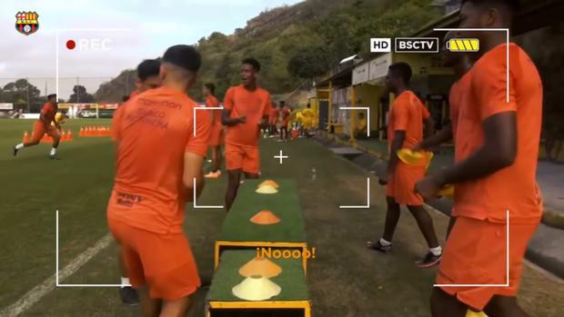 Barcelona SC's reaction game in training