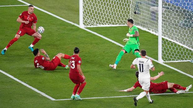 Turkey scores on it's own goal during the 2020 Euros