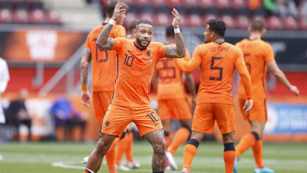 Memphis Depay for the Netherlands.