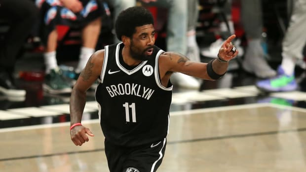 Kyrie Irving with the Nets.