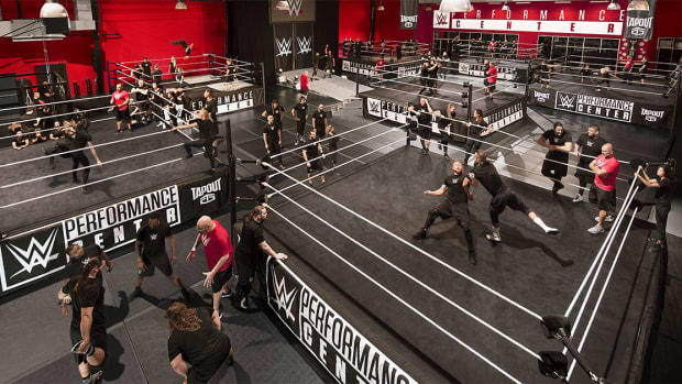Overhead view of the WWE Performance Center