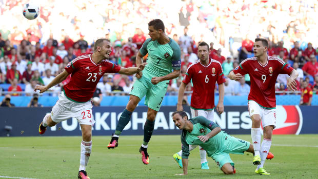 Cristiano Ronaldo vs. Hungary in Euro 2016.