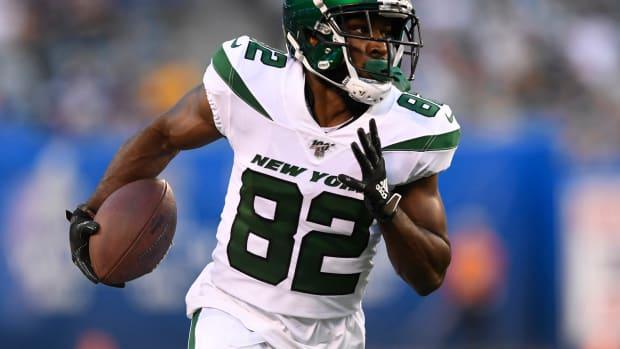 Jets WR Jamison Crowder running