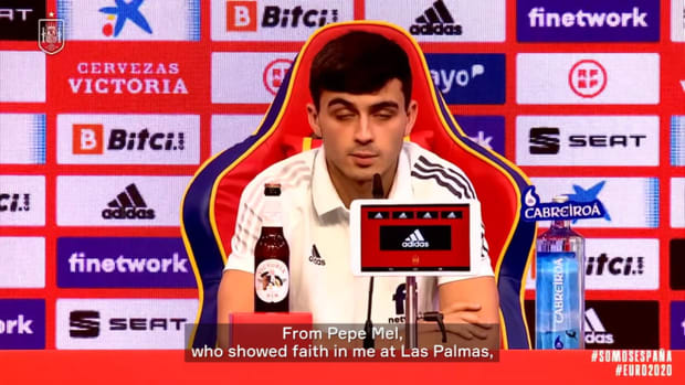 Pedri on becoming Spain's youngest debutant at a major tournament
