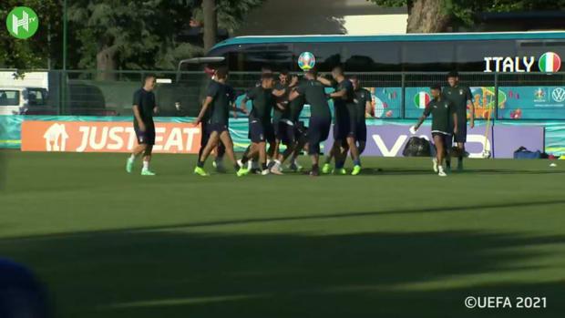 Italy's final training ahead of Switzerland