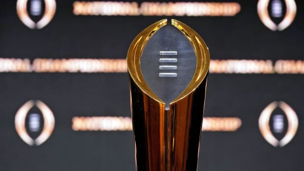 The national championship trophy in college football