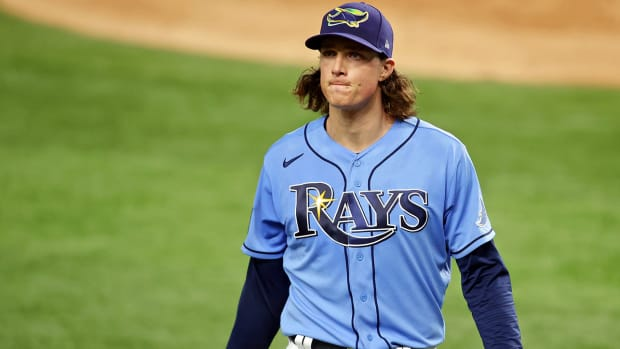 Tyler Glasnow with the Rays.