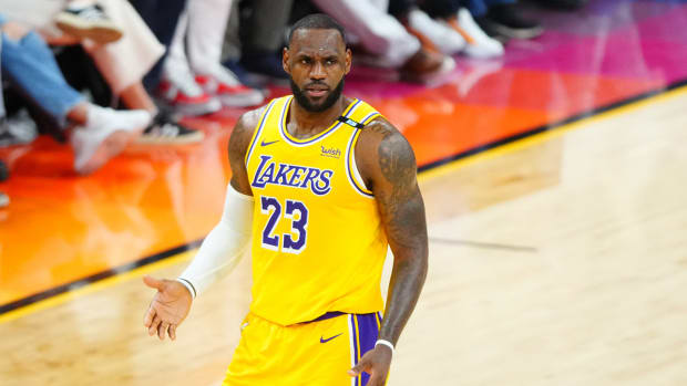 LeBron James with the Lakers