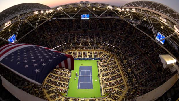 Overhead view of Arthur Ashe Stadium