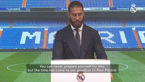 """Sergio Ramos: """"The time has come to say goodbye to Real Madrid"""""""