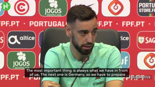 """Bruno Fernandes on Germany clash: """"We need to play as a team"""""""