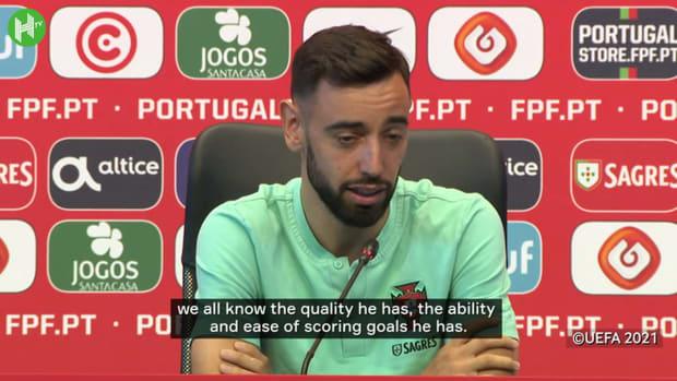 Bruno Fernandes praises Cristiano Ronaldo ahead of Germany clash