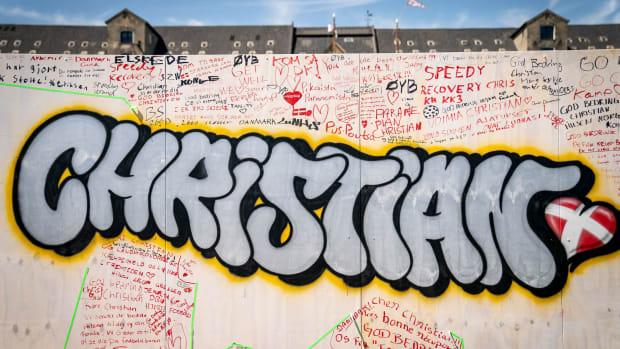 A mural for Christian Eriksen in Denmark