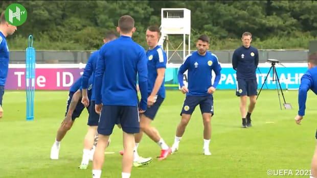 Scotland training ahead of clash vs England