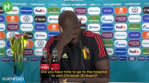 Romelu Lukaku spoke to Christian Eriksen before Belgium-Denmark game