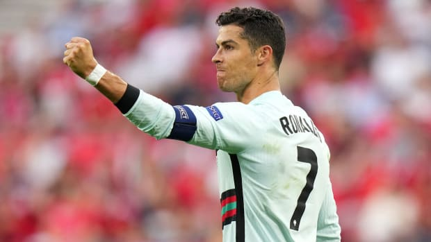 Cristiano Ronaldo holds the all-time men's international goal record