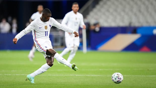 France's Ousmane Dembele is out for the Euros