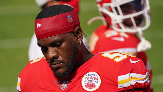 Frank Clark with the Chiefs.